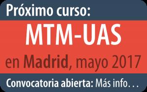 Próximo curso de MTM-UAS en Bilbao, mayo 2017